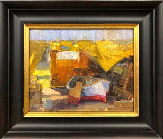 Under the Tent by Nancy Tankersley, oil 8x10 $1100