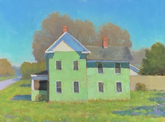 The Green House, Walsh oil 12x16 $1050