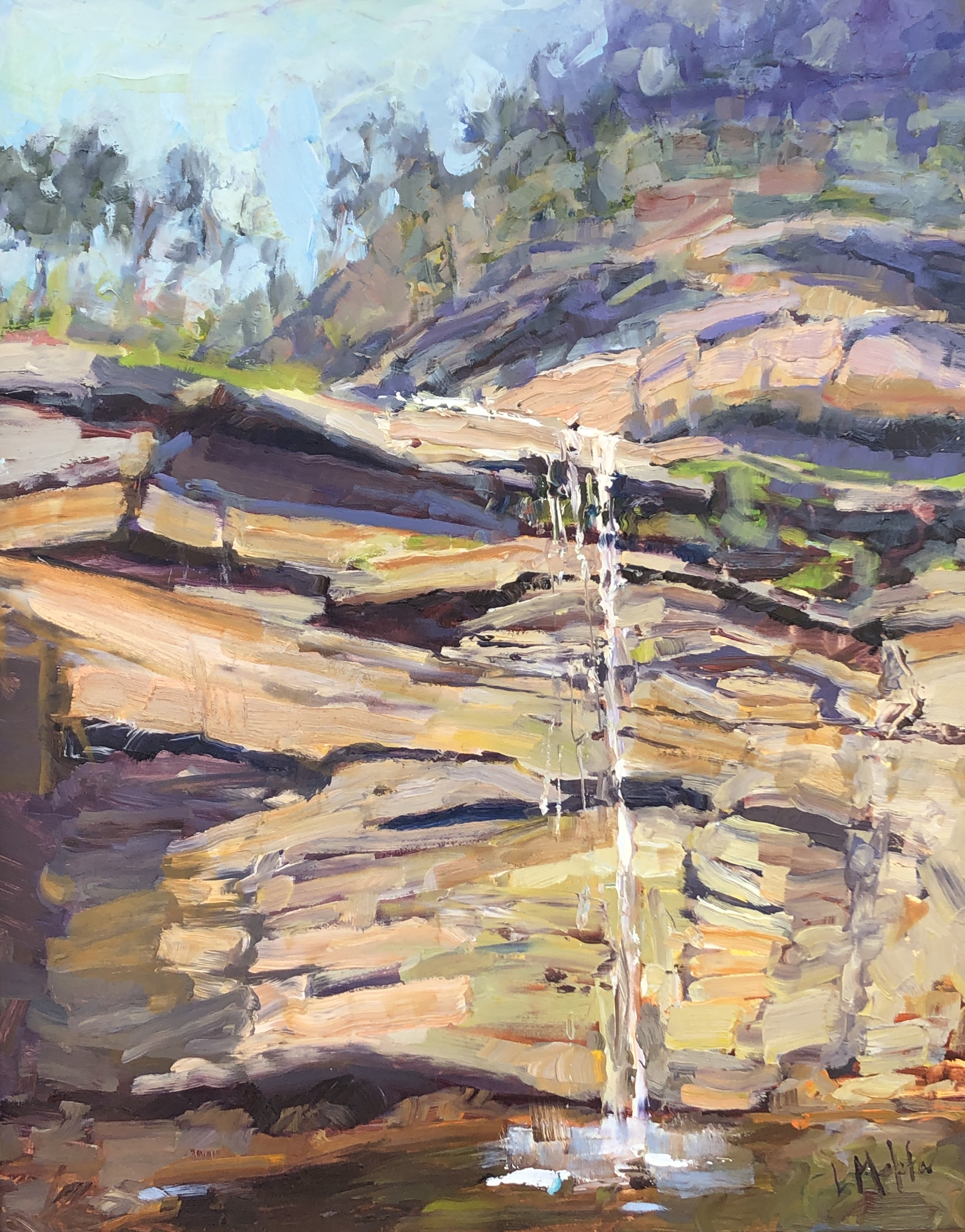 HiddenFalls-Mehta, oil 20x16 $2000
