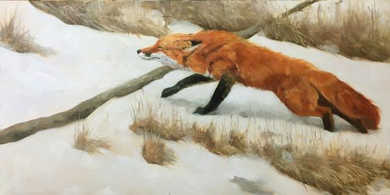 Stretch, oil 12 x 24 $1850