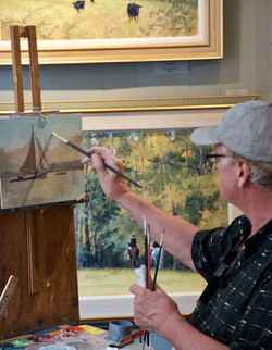 Len's demo-Plein Air Easton 2018