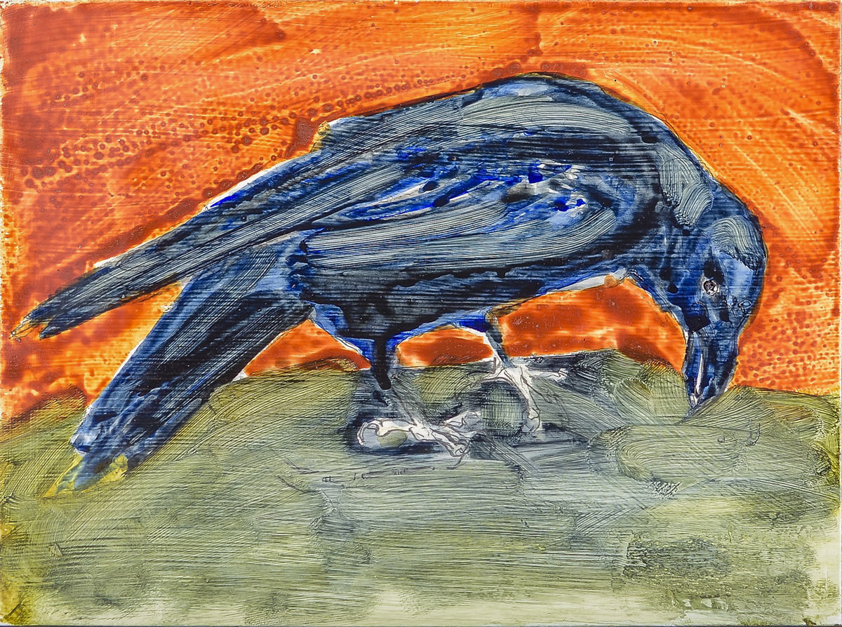 Matisse Bird-Garber, oil on enamel, $300(Unfr)