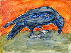 Matisse Bird, oil on enamel, $300(Unfr)