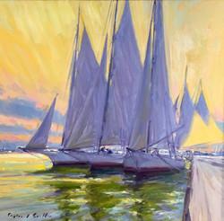 Five Skipjacks-Griffin, oil 28x30 $3800 sold