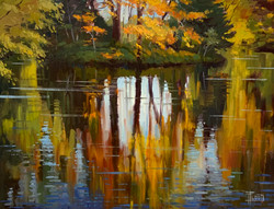 Autumn Reflections-Flood, oil 12x16 $1200