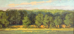 August Afternoon, oil 6x12 $975