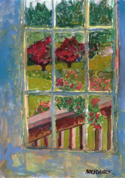 Dusk at the Door, watercolor 5x7 $325
