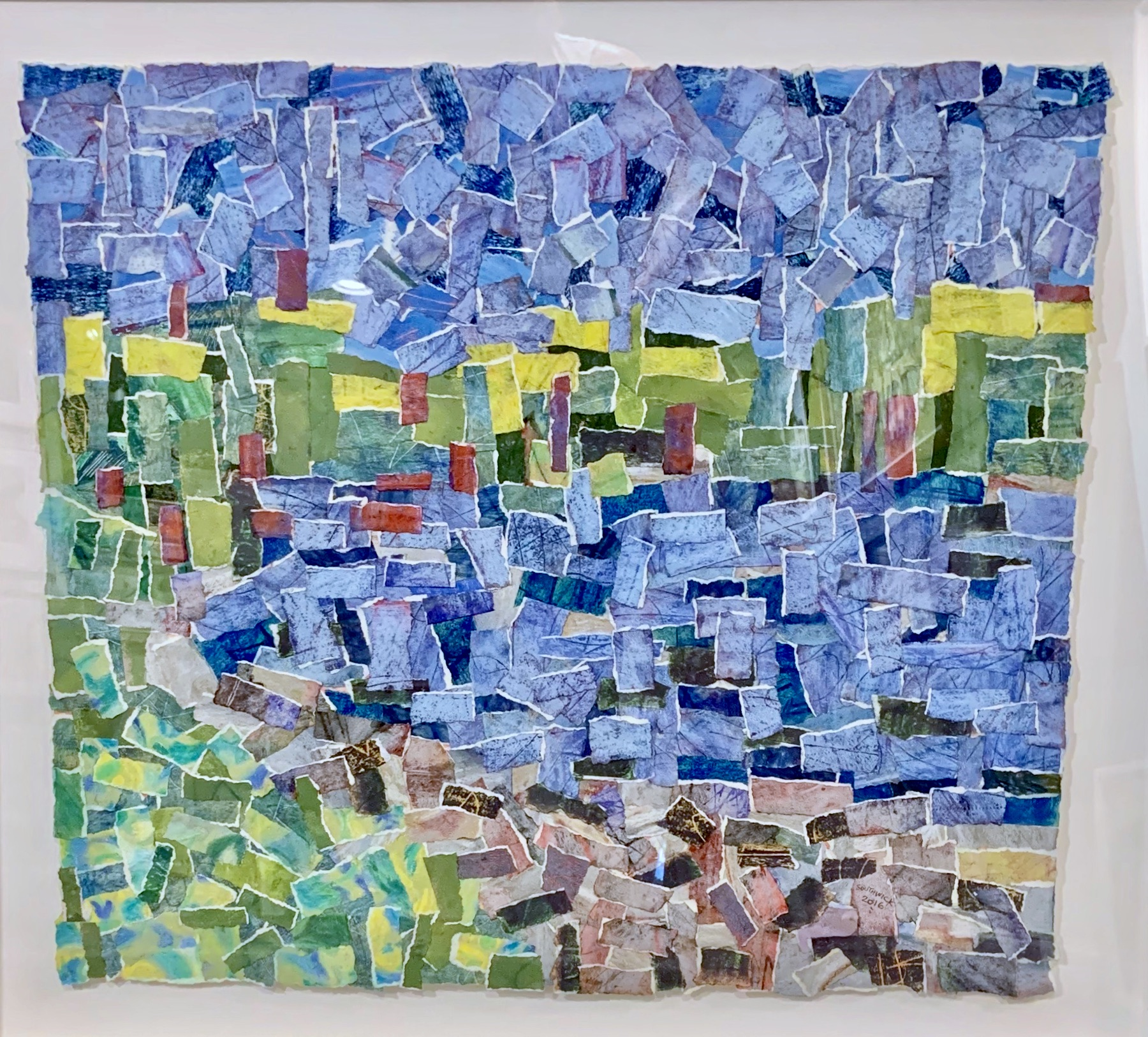 Oxford Cove, collage 28x31 $1100