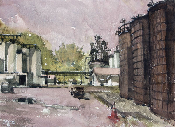 For Clarence-Bucci, watercolor 11x14 $1200