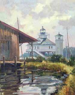 St. Michaels Reflections-Mizerek, oil $2650 18x14