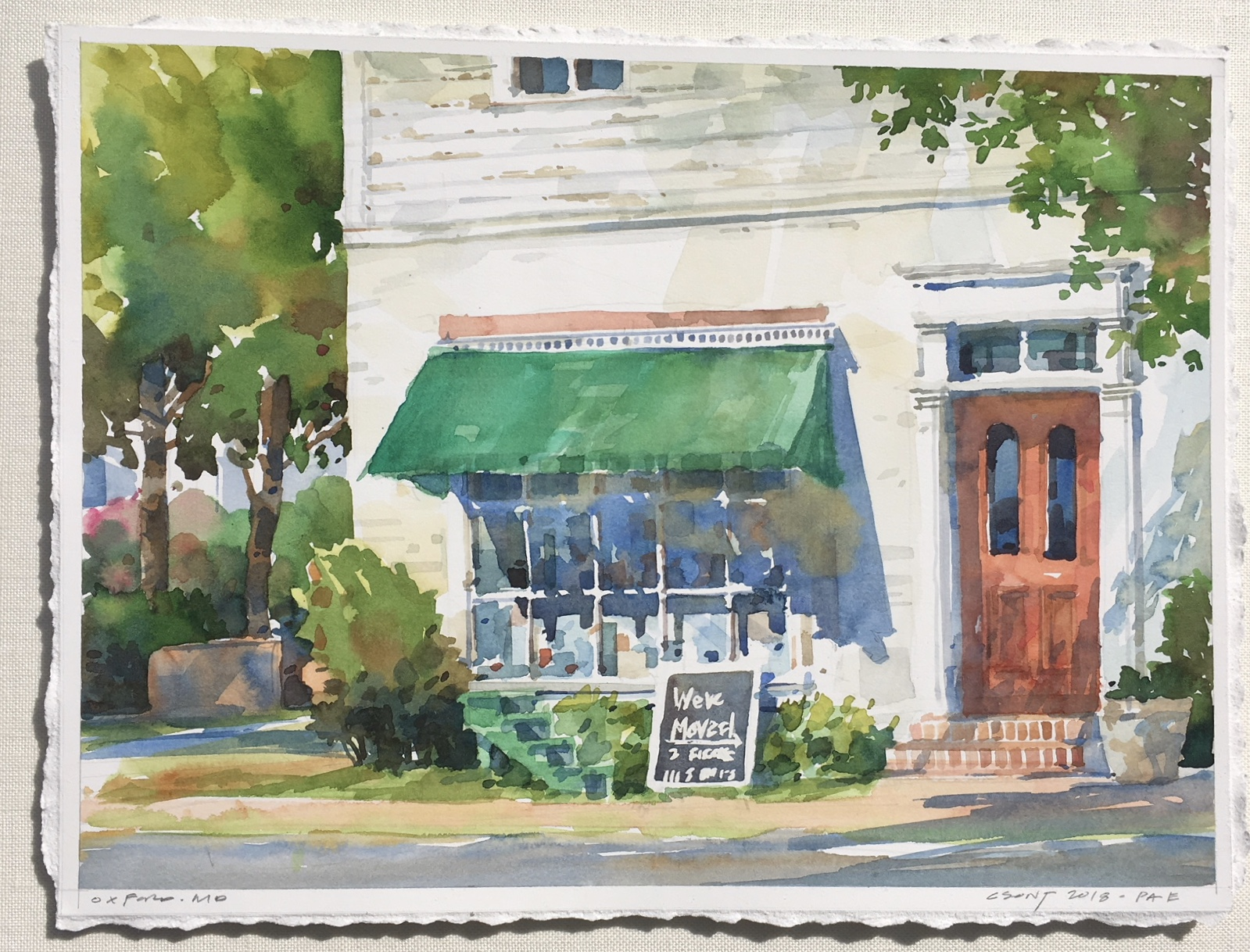 "Closed ""til This Weekend-Csont watercolor $1275 17x21"