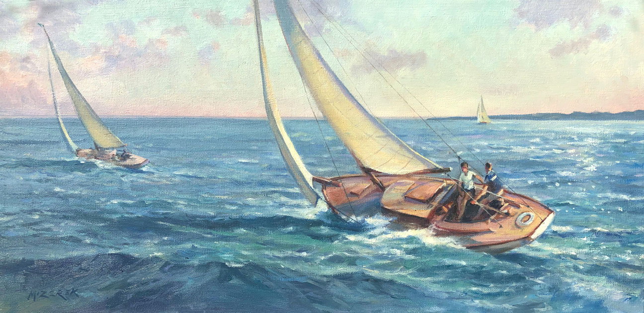 Breezing By-Mizerek, oil12x24 $2700