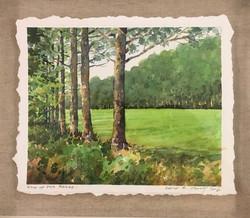 End of the Break-Csont, watercolor $925 14x16