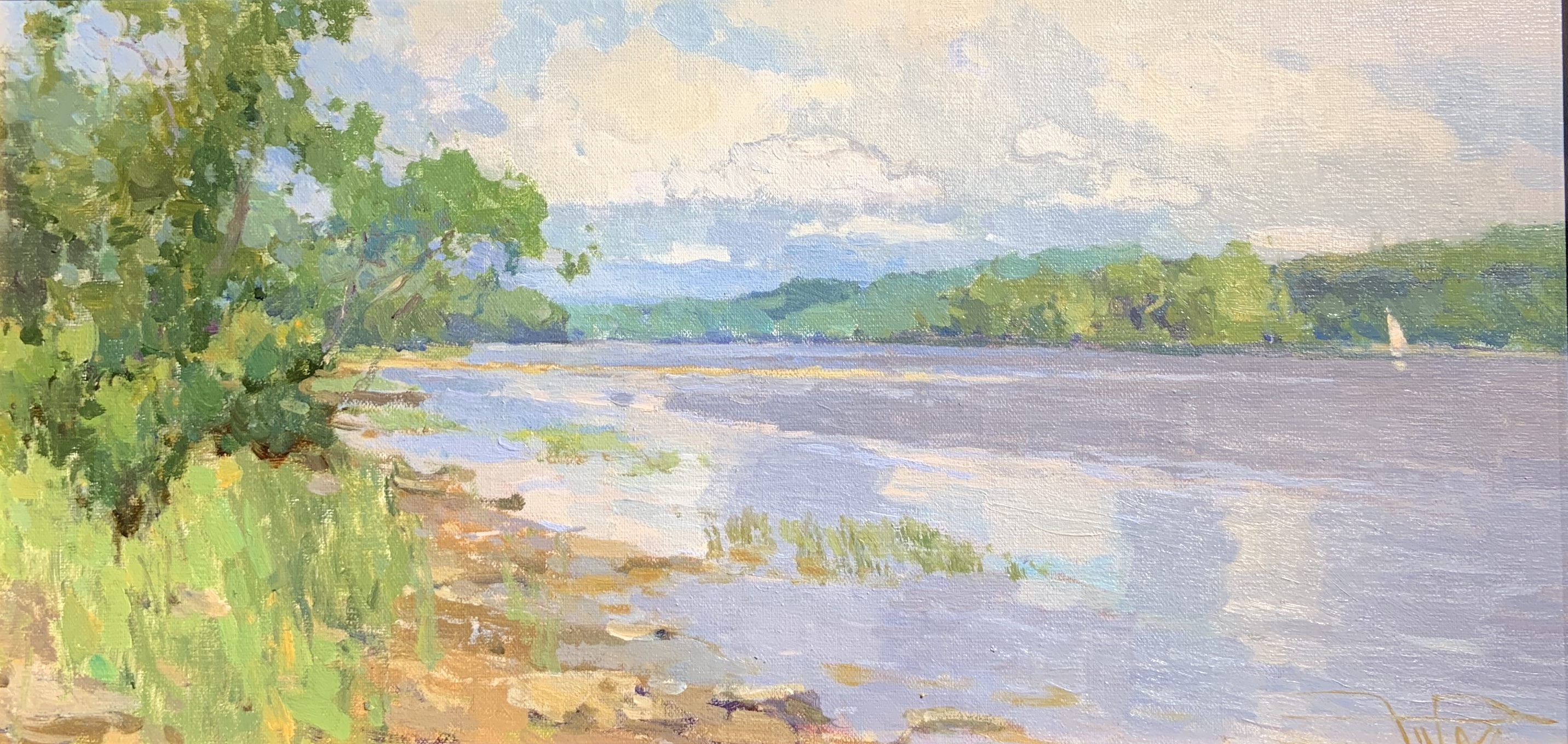 Breeze Over Water, oil 8x16 $1600