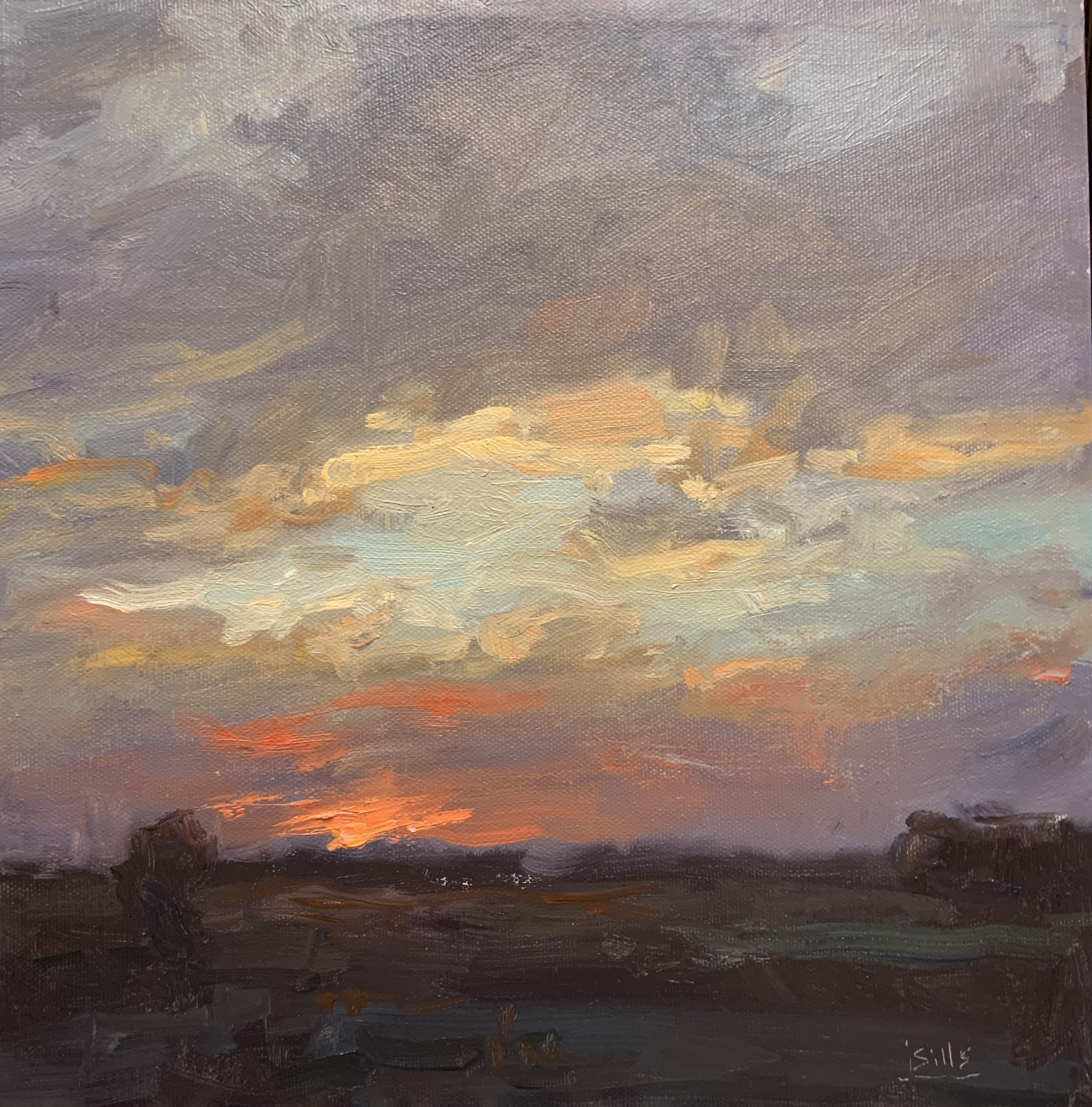 Days Fiery end-Sills, oil 12x12 $3200