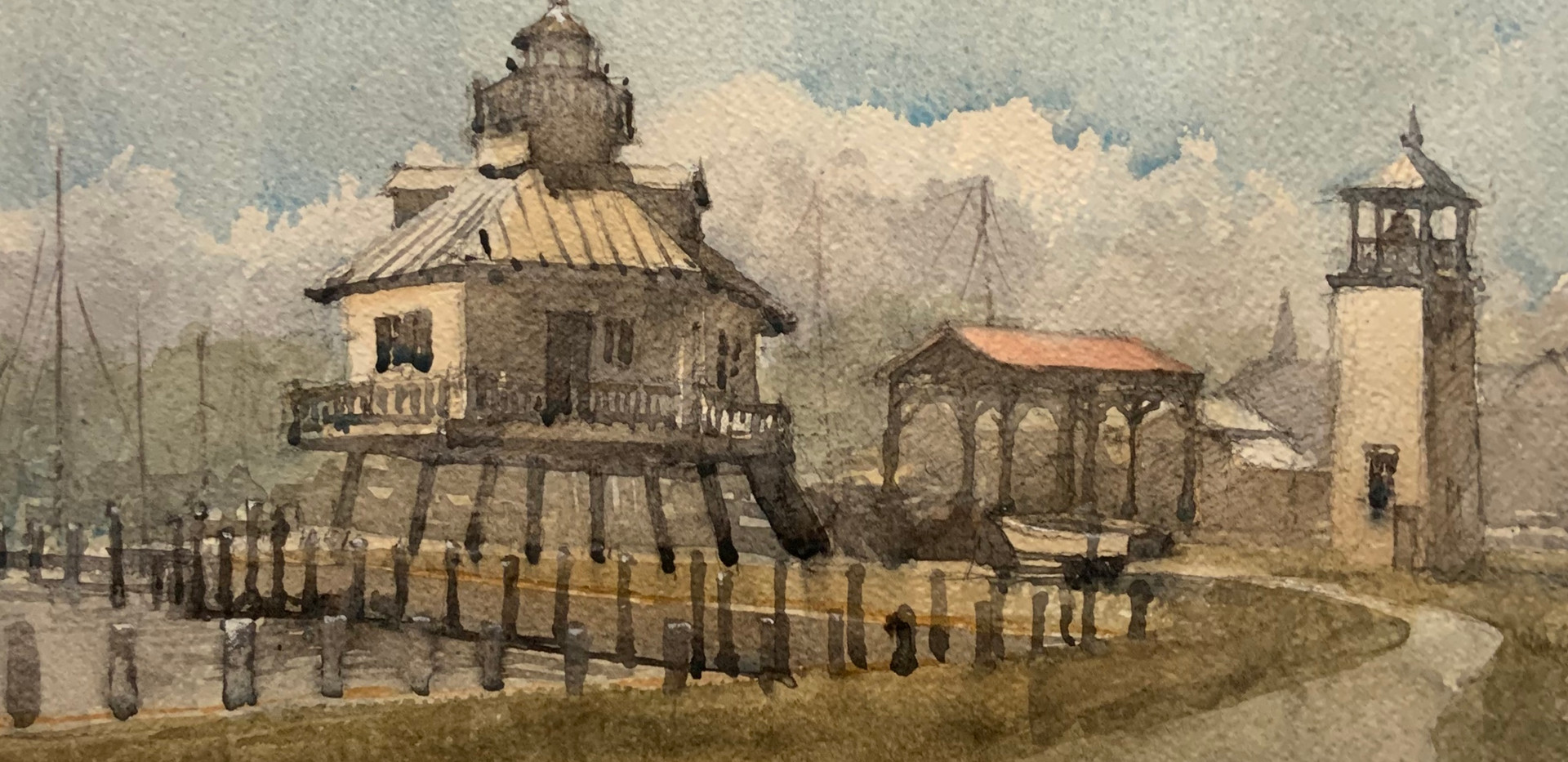 Lighthouse, Boat Shed, Bell Tower, water
