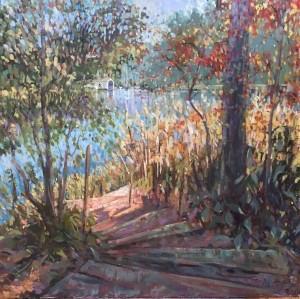 Creek View, oil 36x36 $6000