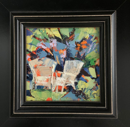 The Unmatched Pair by Cynthia Rosen, oil 6x6 $525