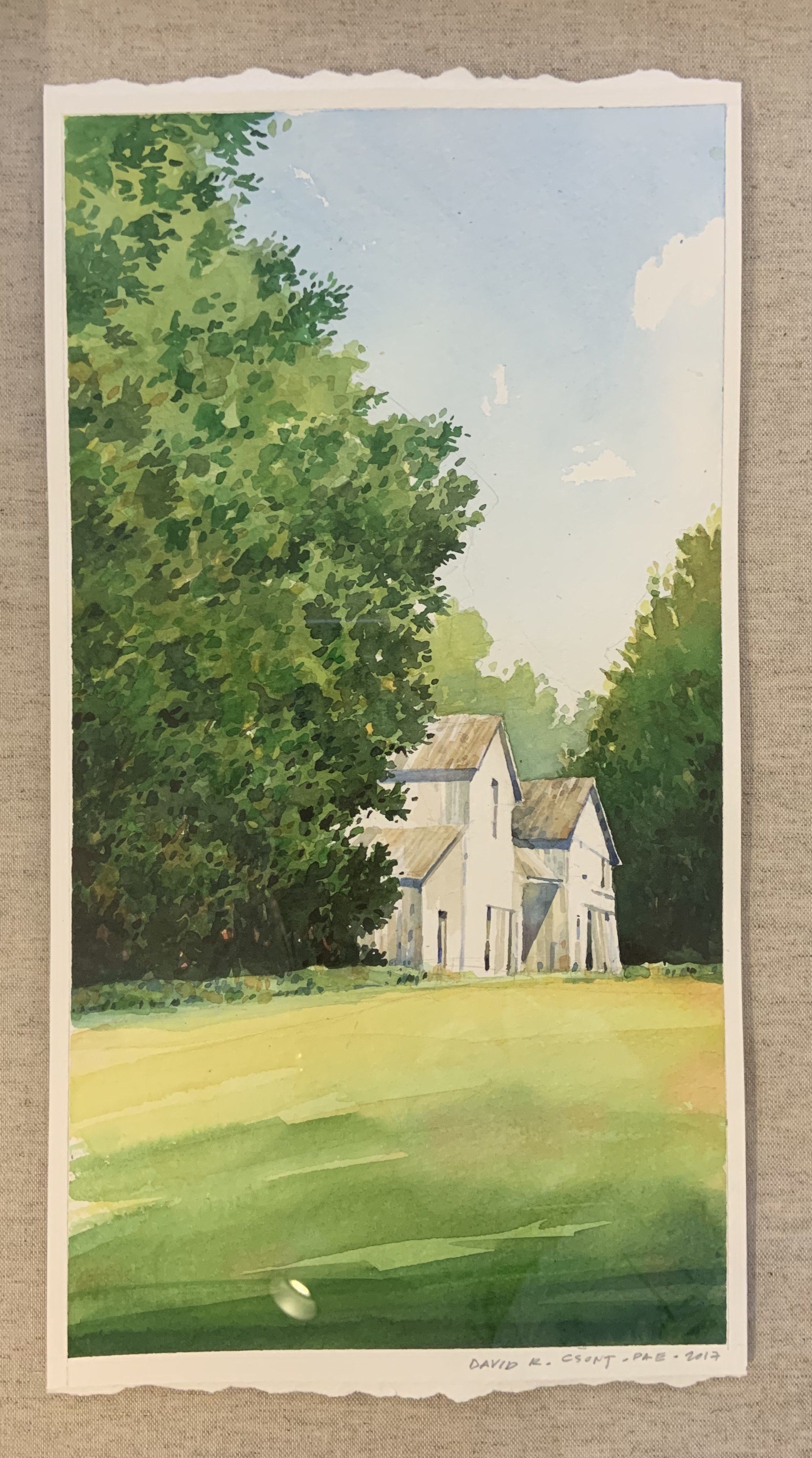 Barn near Bozman-Csont watercolor $1025