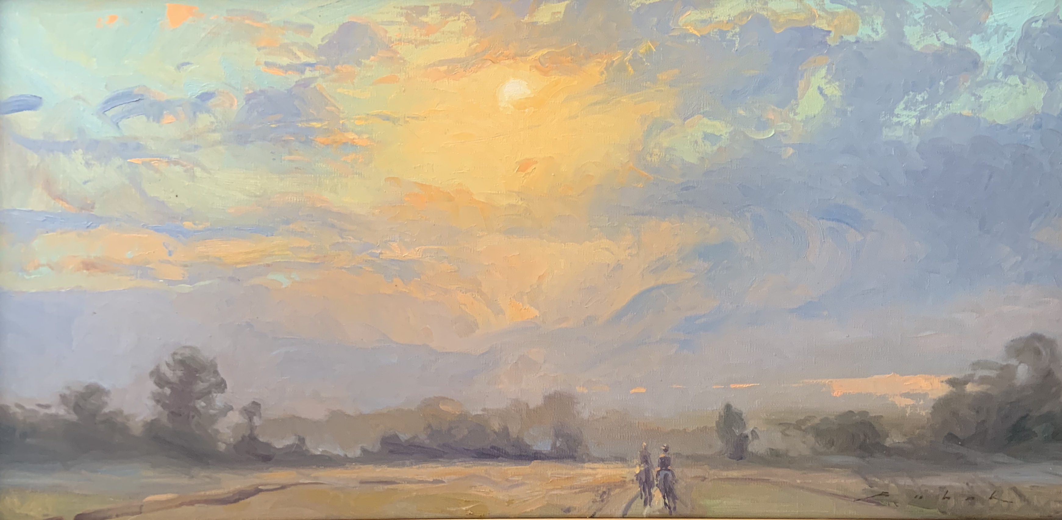 Under the Big Sky,oil 12 x24 $2350