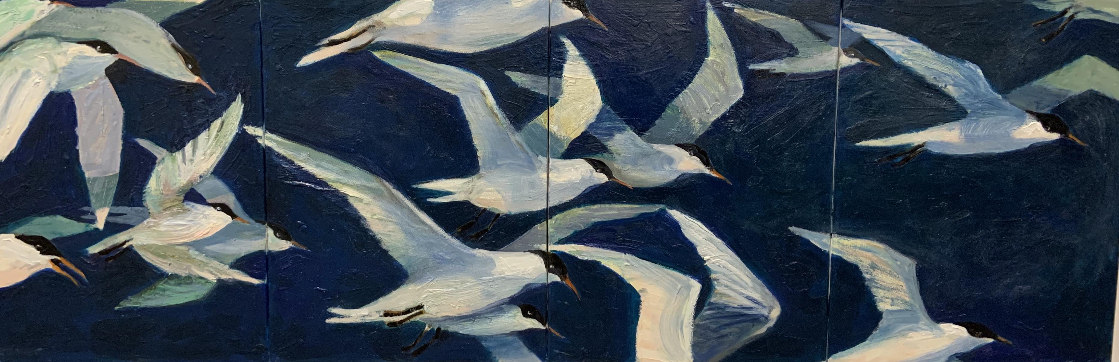 Royal Terns-Garber, oil $2700