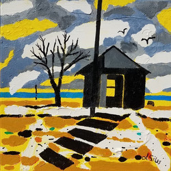River Shed-Giles acrylic8x8 $290