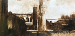 Dirty Old Town-Hunter 12x24 $2450