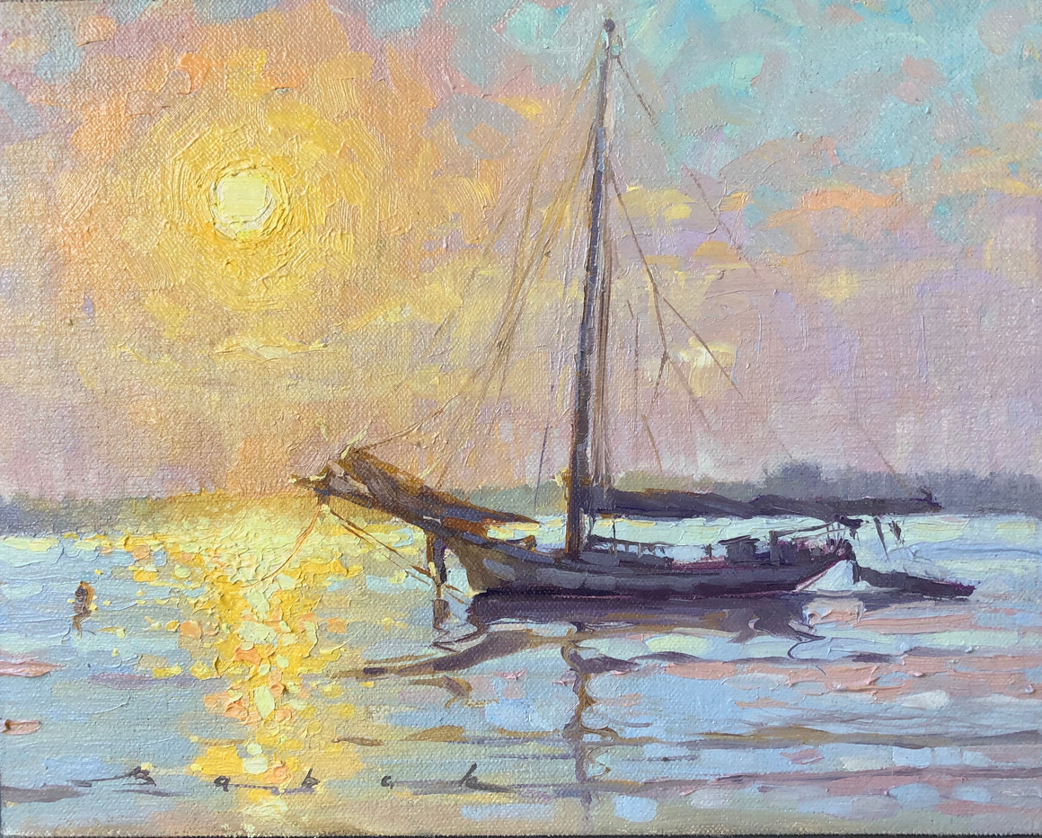 Filled With Light by Olena Babak, oil 8x10 $895 sold