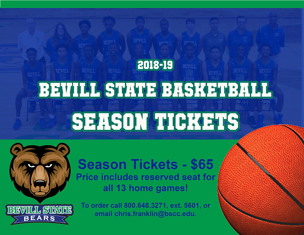 Bevill State Basketball Season Tickets graphic