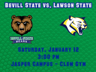 Bevill Bears Take on Lawson State January 12