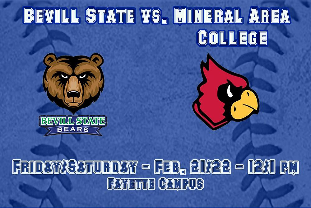 Bevill State vs. Mineral Area College graphic