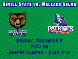 Bevill State Basketball Hosts Wallace Selma Tonight