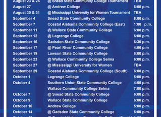 Bevill State Volleyball 2019 Schedule