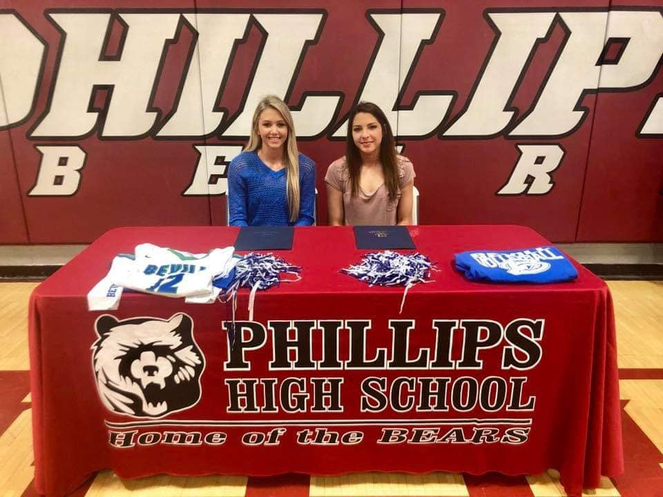 Photo of Phillips High School students signing with Bevill State