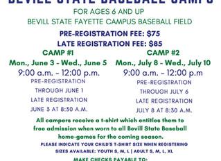 Register Now for Summer Baseball Camp