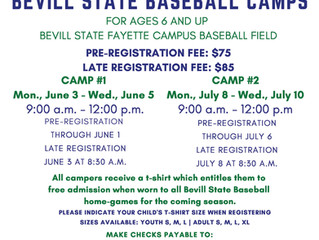 Register Now for Summer Baseball Camp