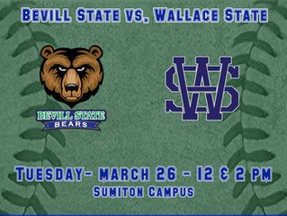Bevill Softball Hosting Wallace State
