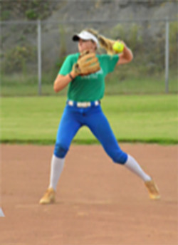 Softball Player throwing