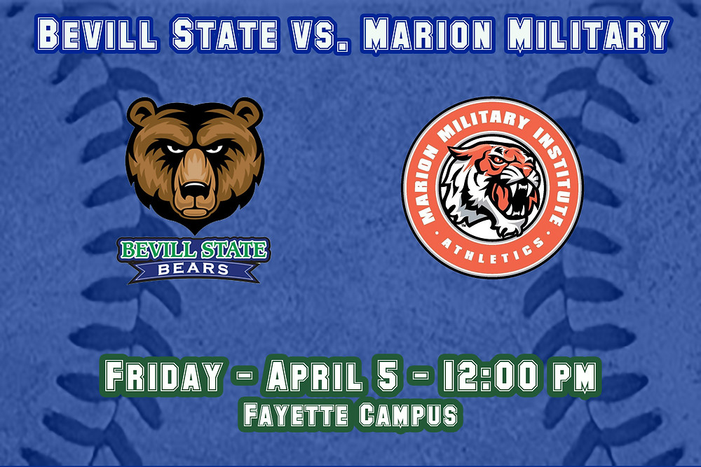 Bevill State vs. Marion Military Graphic