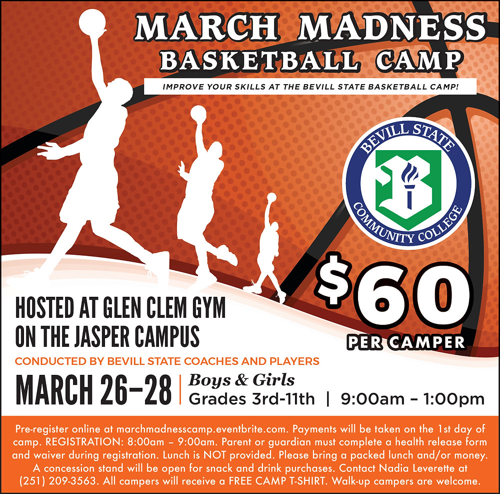 March Madness Basketball Camp Flyer