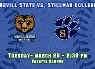 Baseball Team Hosts Stillman College