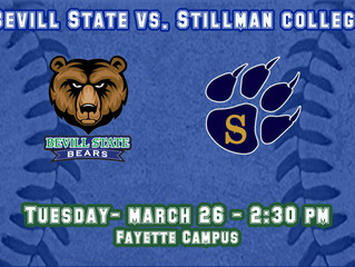 Baseball Team Hosts Stillman College