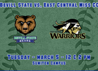 Bevill State Softball Hosts East Central Mississippi Community College March 5