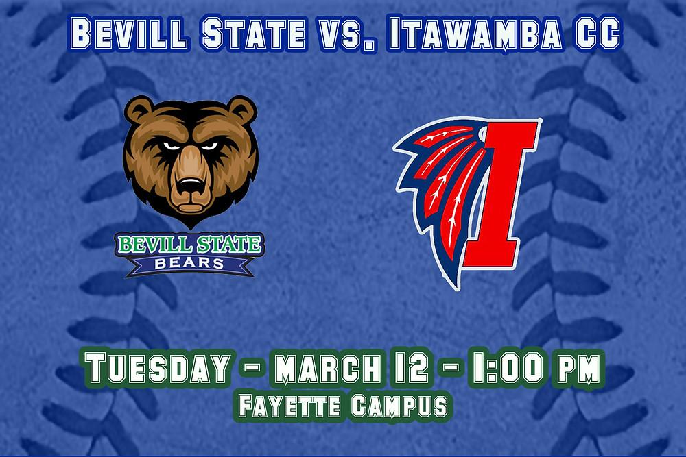 Bevill State vs. Itawamba graphic
