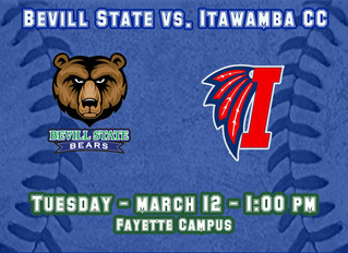 Bevill State Baseball Hosts Itawamba Community College in a Doubleheader