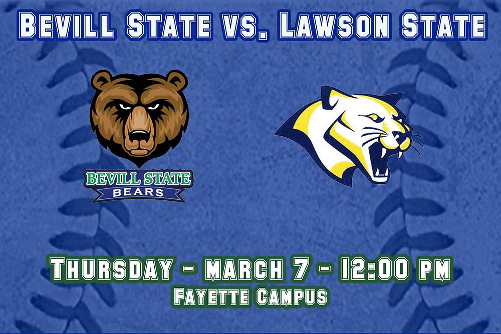 Bevill State vs. Lawson State graphic