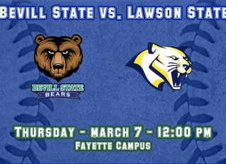 Baseball Team Hosts Lawson State
