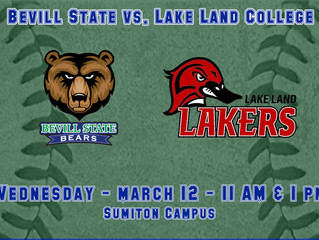 Bevill State Softball Hosts Lake Land College