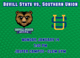 Bevill State Faces Southern Union Jan. 14 at Home