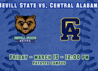 Baseball Game Against CACC Rescheduled for Friday March 15